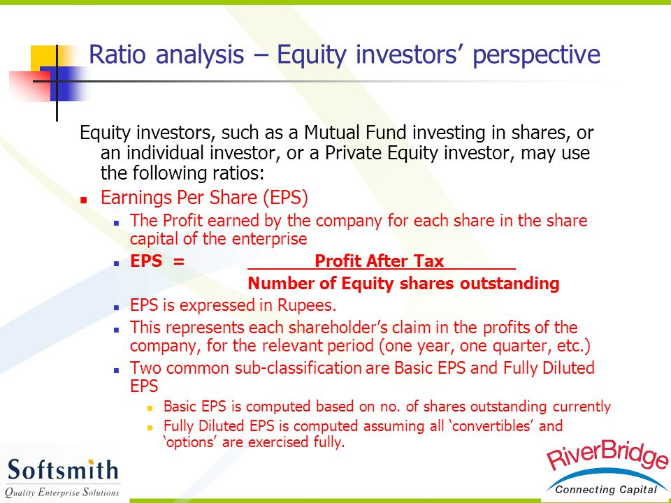 Ratio analysis – Equity investors' perspective