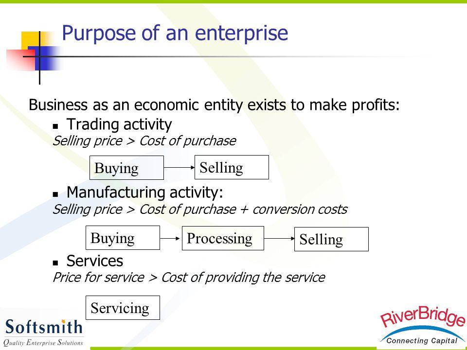 Purpose of an enterprise