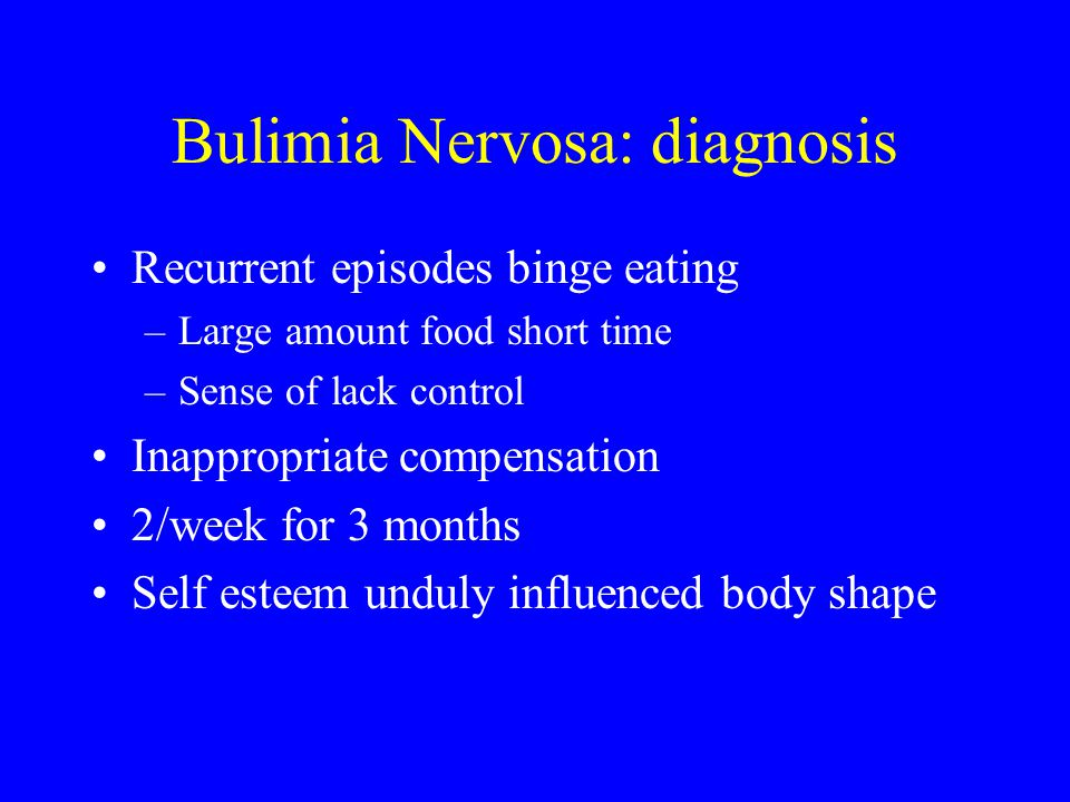 Bulimia Nervosa: diagnosis