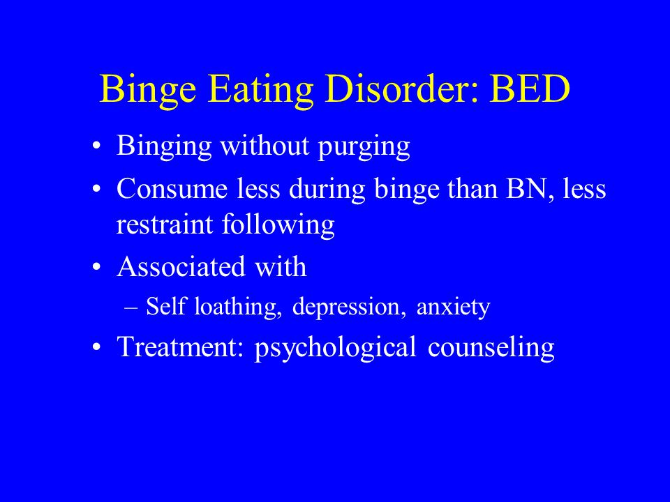 Binge Eating Disorder: BED