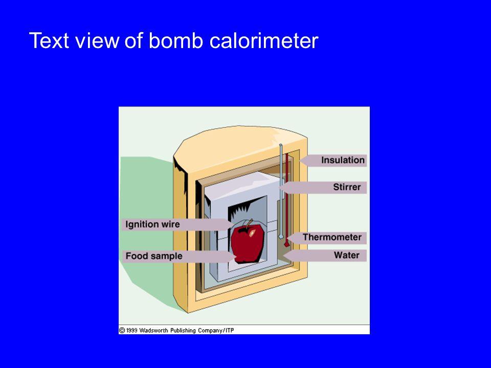 Text view of bomb calorimeter