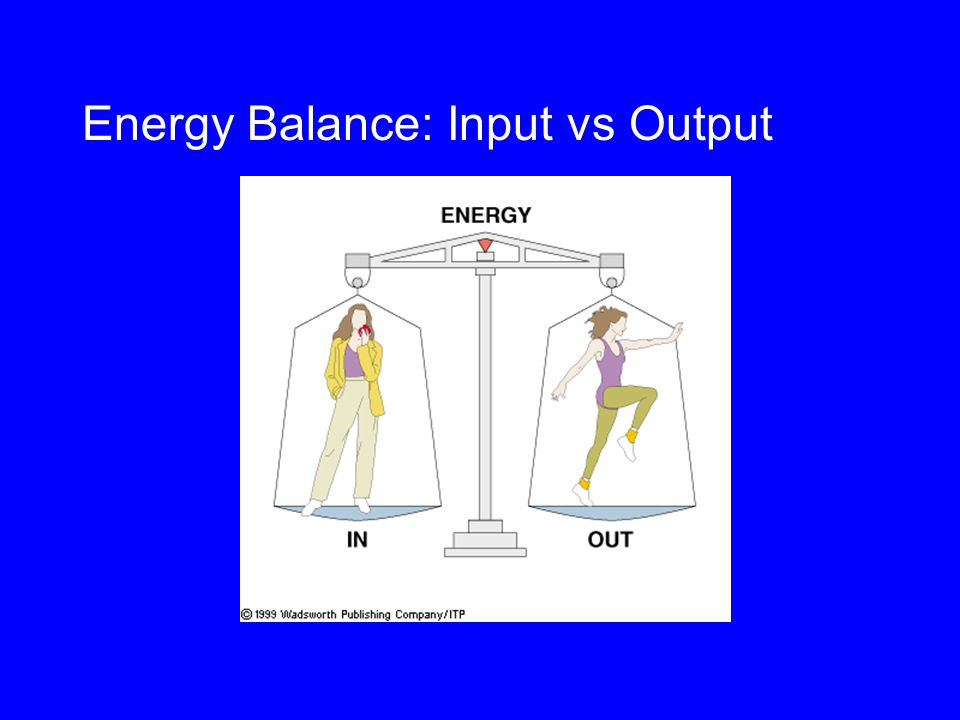 Energy Balance: Input vs Output