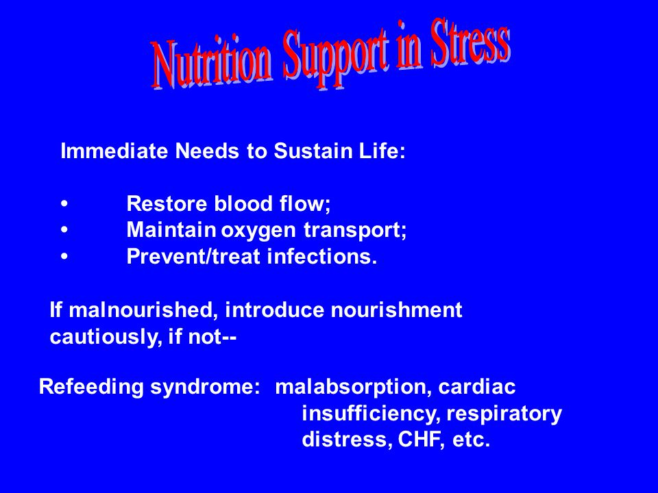 Nutrition Support in Stress