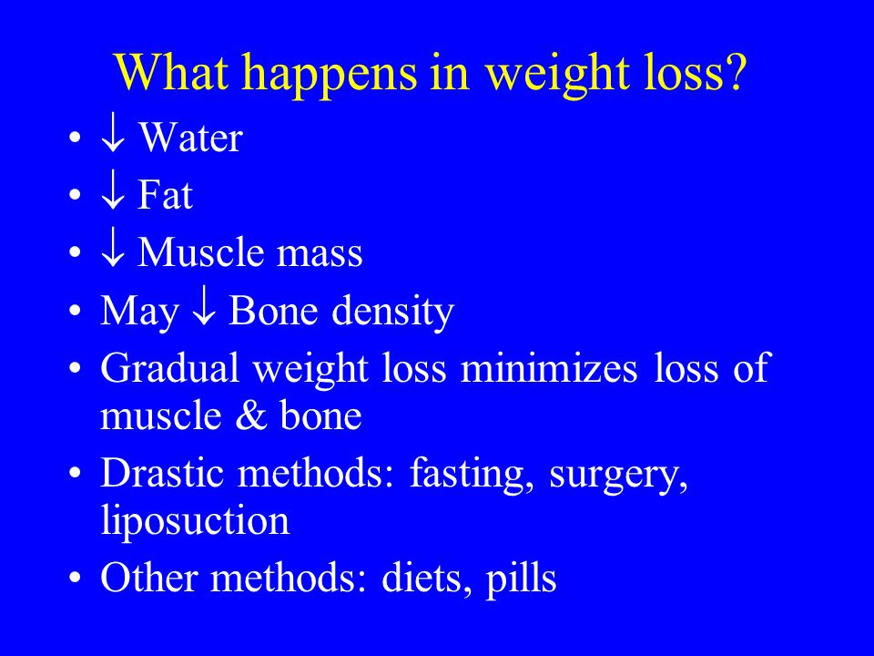 What happens in weight loss
