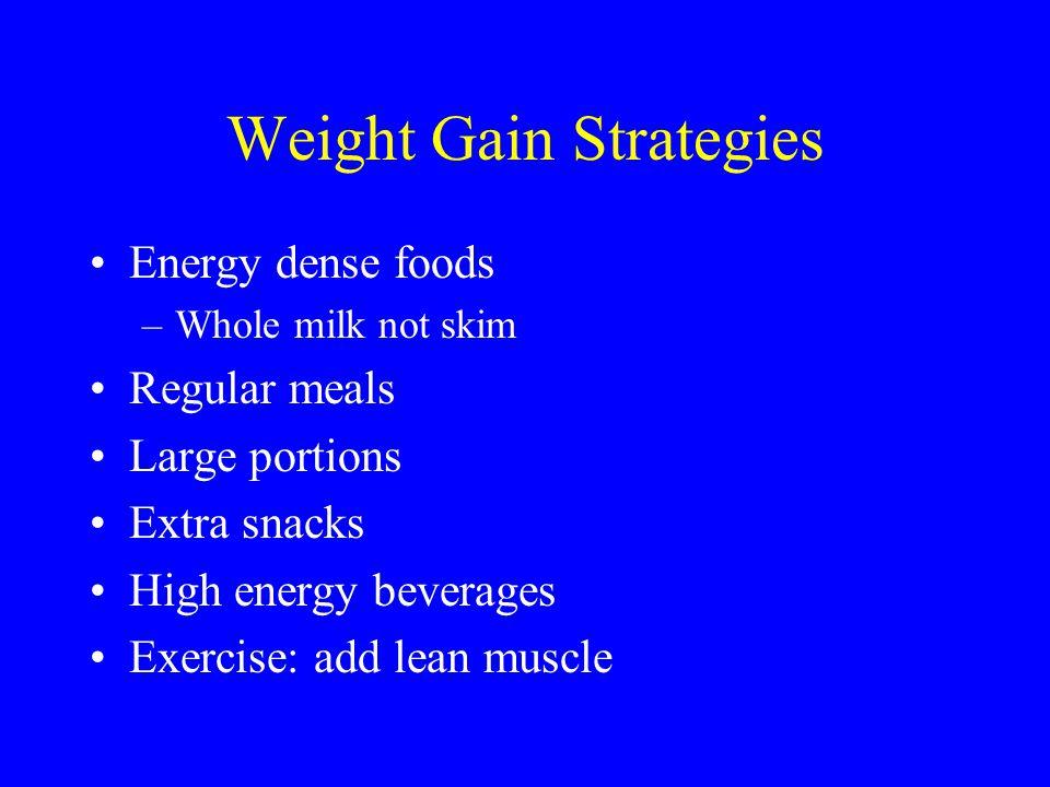 Weight Gain Strategies