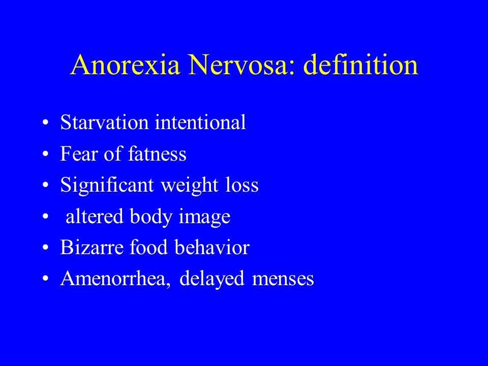 Anorexia Nervosa: definition