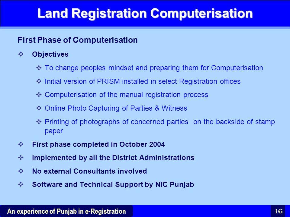 Land Registration Computerisation