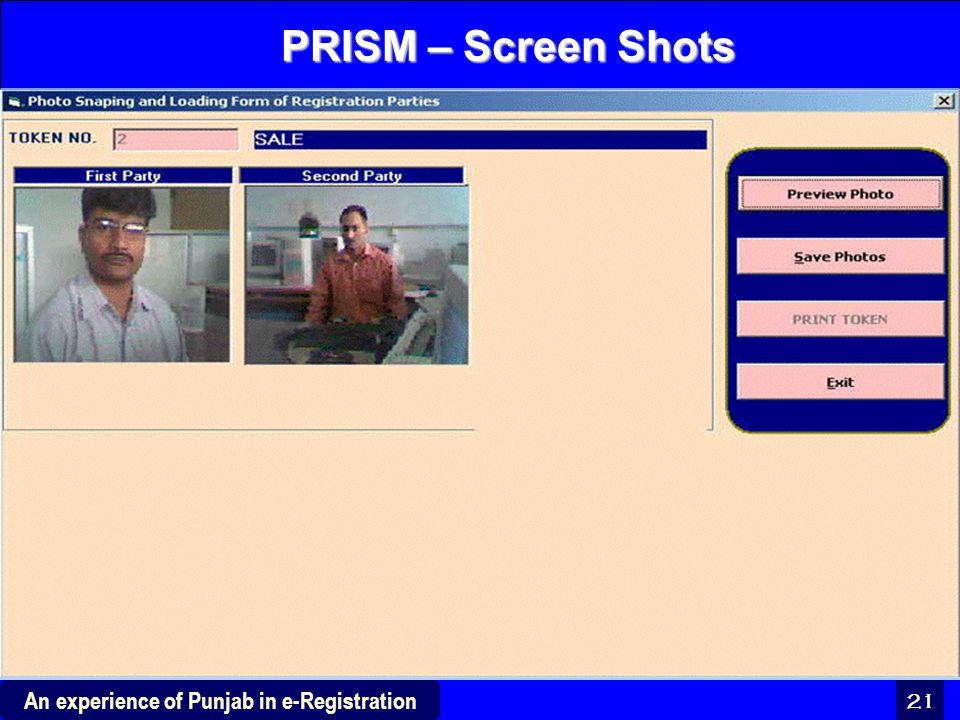 PRISM – Screen Shots