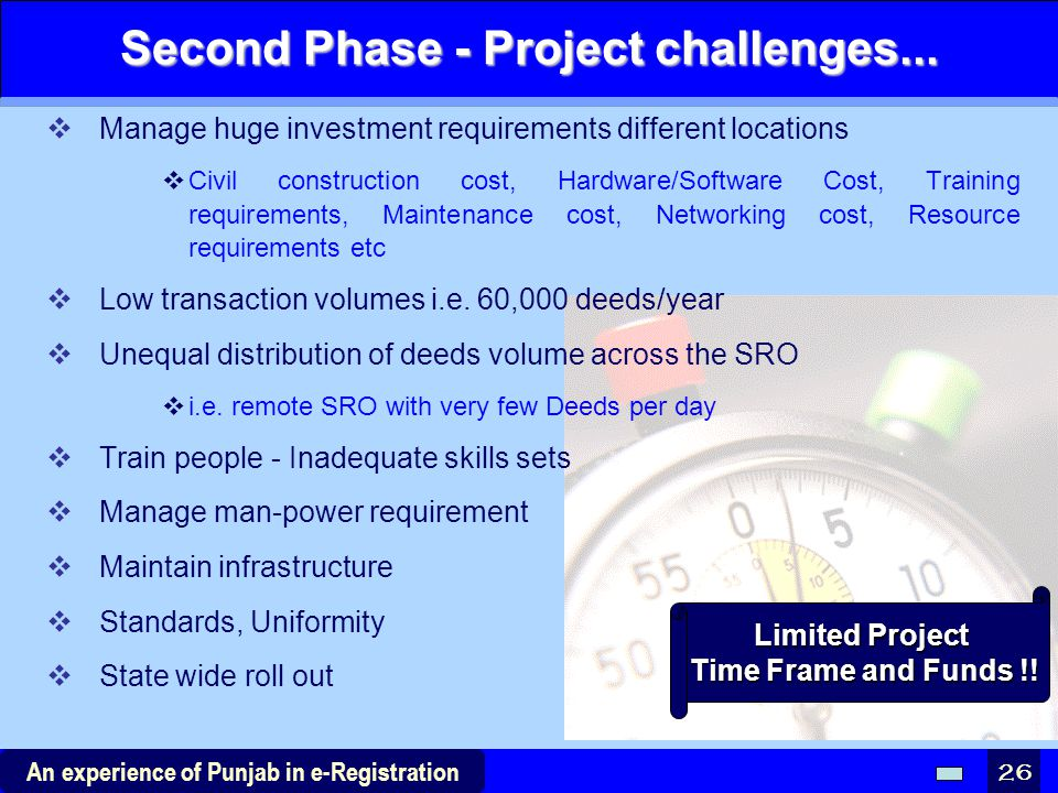 Second Phase - Project challenges...