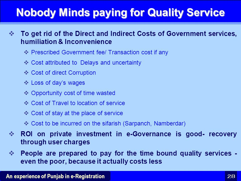 Nobody Minds paying for Quality Service