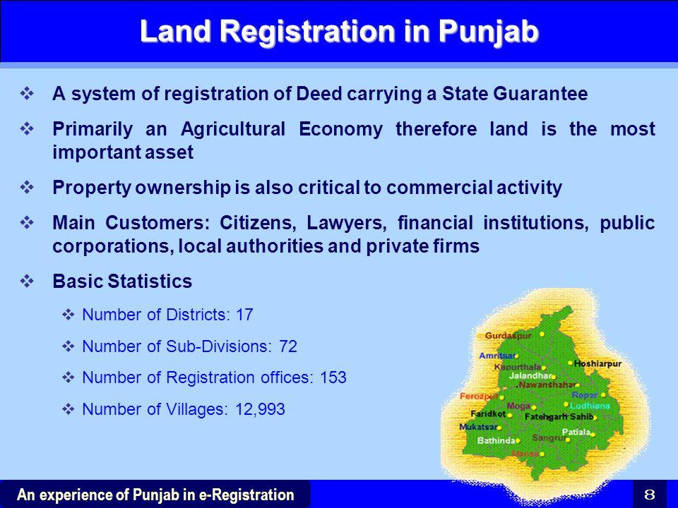 Land Registration in Punjab