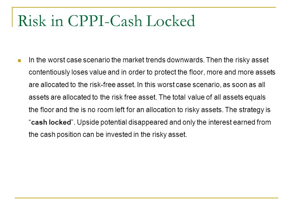 Risk in CPPI-Cash Locked