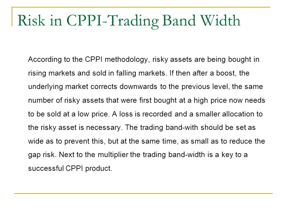 Risk in CPPI-Trading Band Width