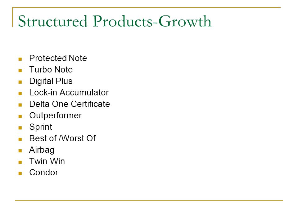 Structured Products-Growth