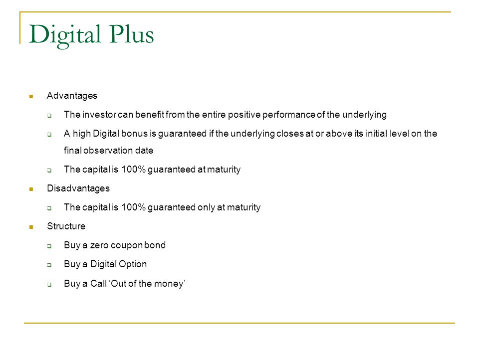 Digital Plus Advantages
