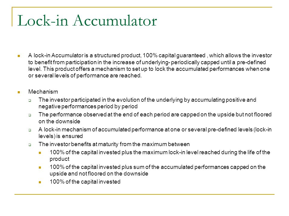 Lock-in Accumulator
