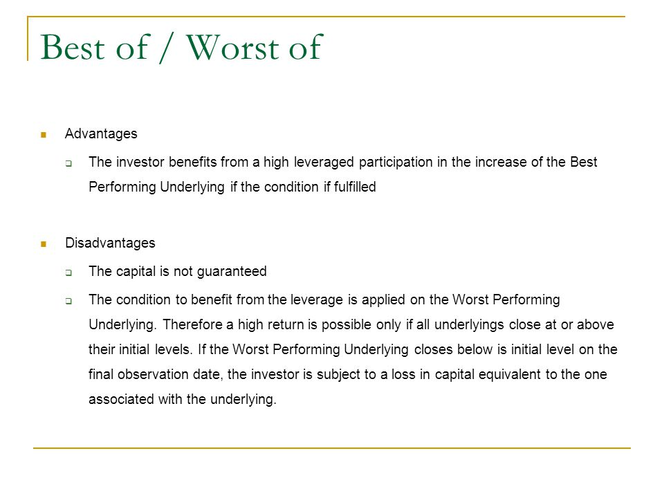 Best of / Worst of Advantages