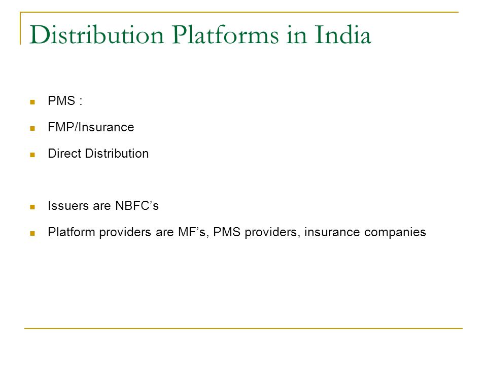 Distribution Platforms in India