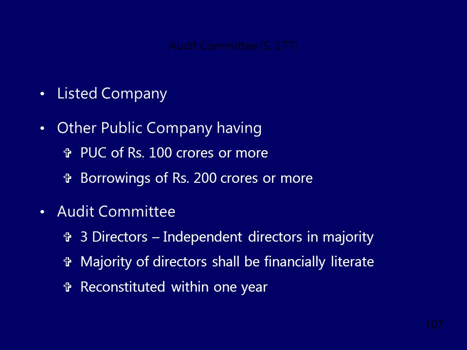 Other Public Company having