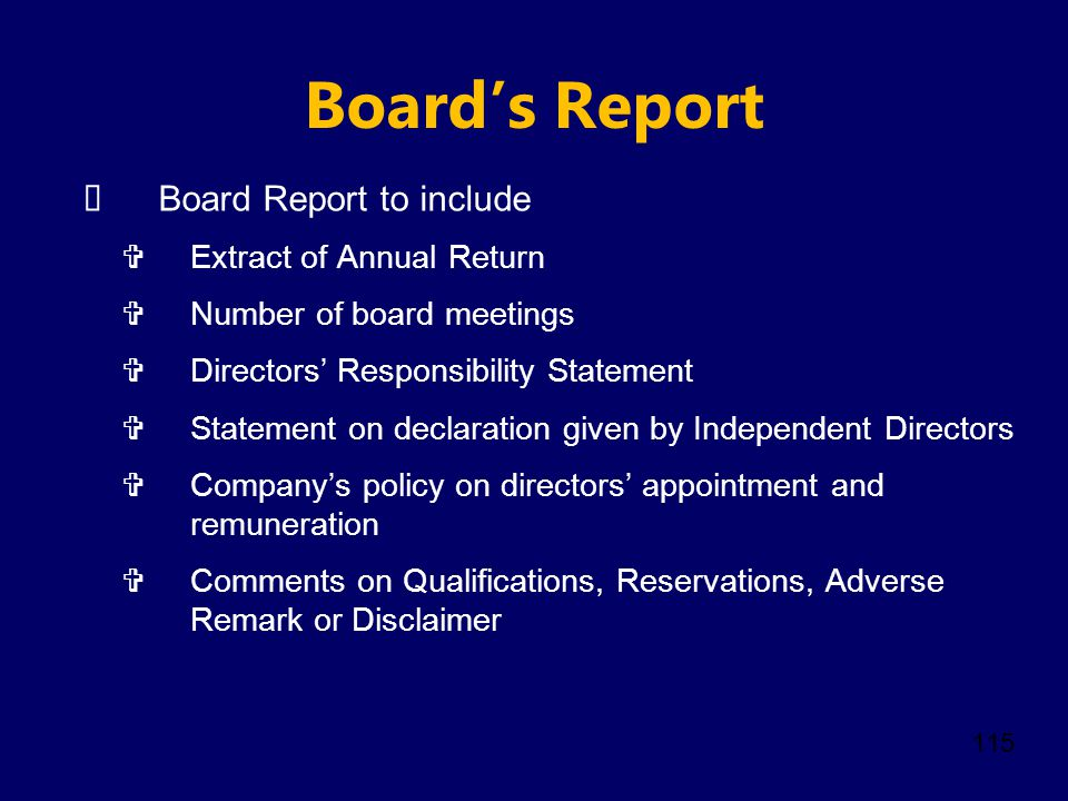 Board's Report Board Report to include Extract of Annual Return