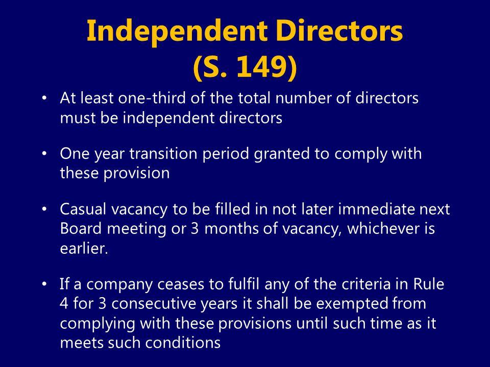 Independent Directors (S. 149)