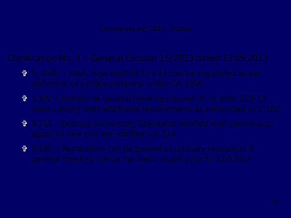 Clarification No. 1 – General Circular 15/2013 dated 13.09.2013