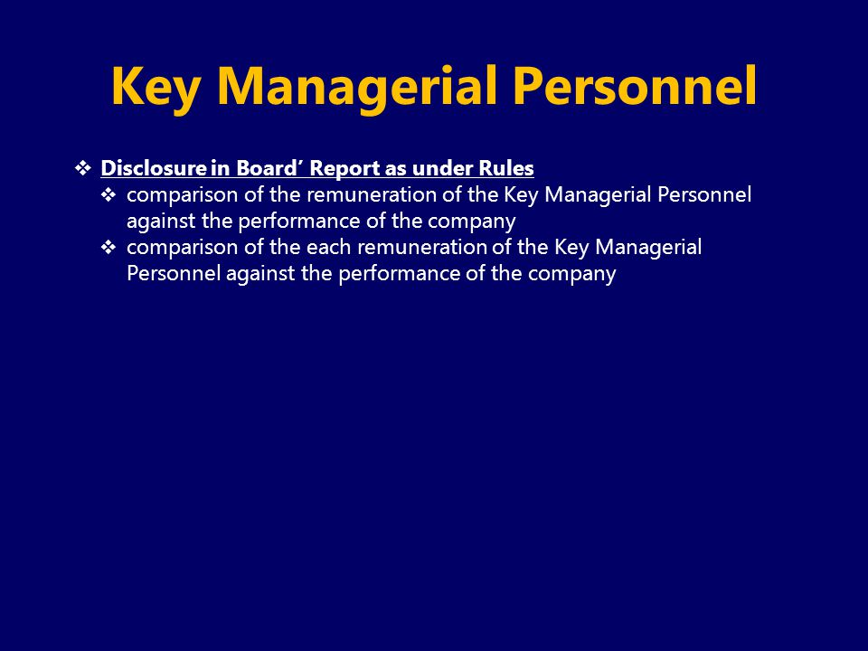 Key Managerial Personnel
