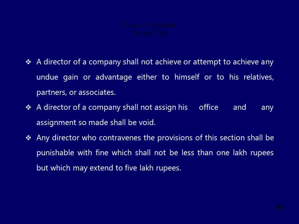 Duties of Directors (Section 166)