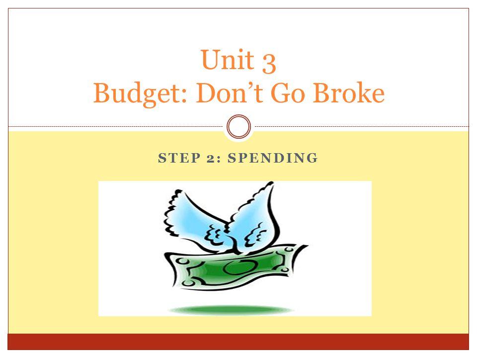 Unit 3 Budget: Don't Go Broke