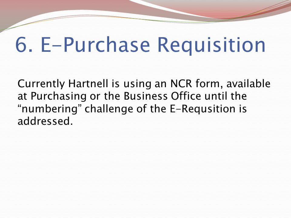 6. E-Purchase Requisition