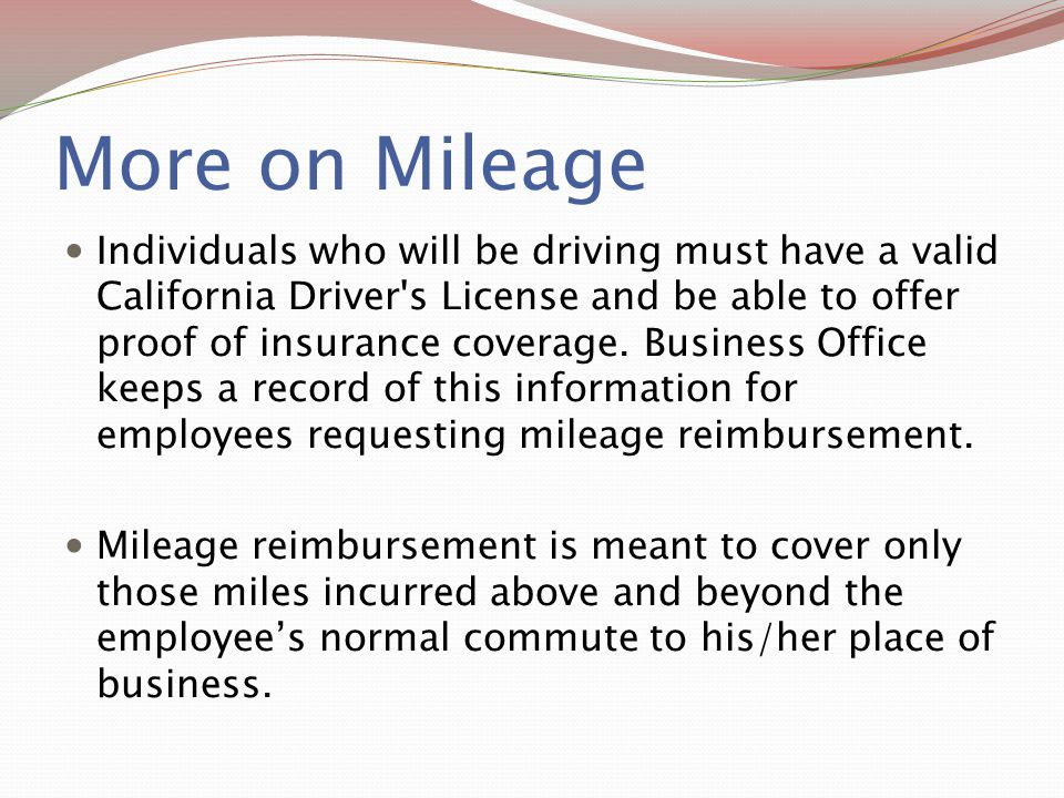 More on Mileage