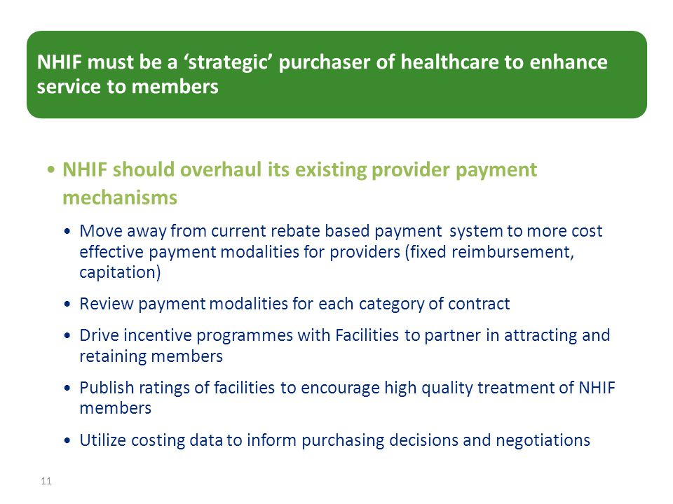 NHIF should overhaul its existing provider payment mechanisms