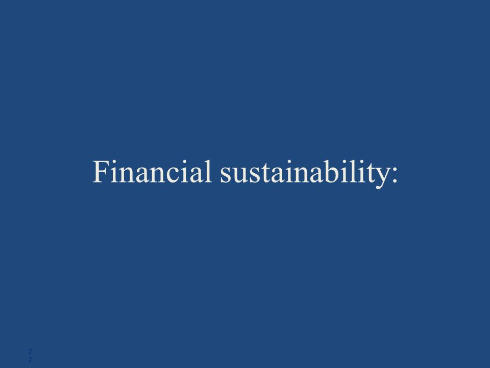 Financial sustainability: