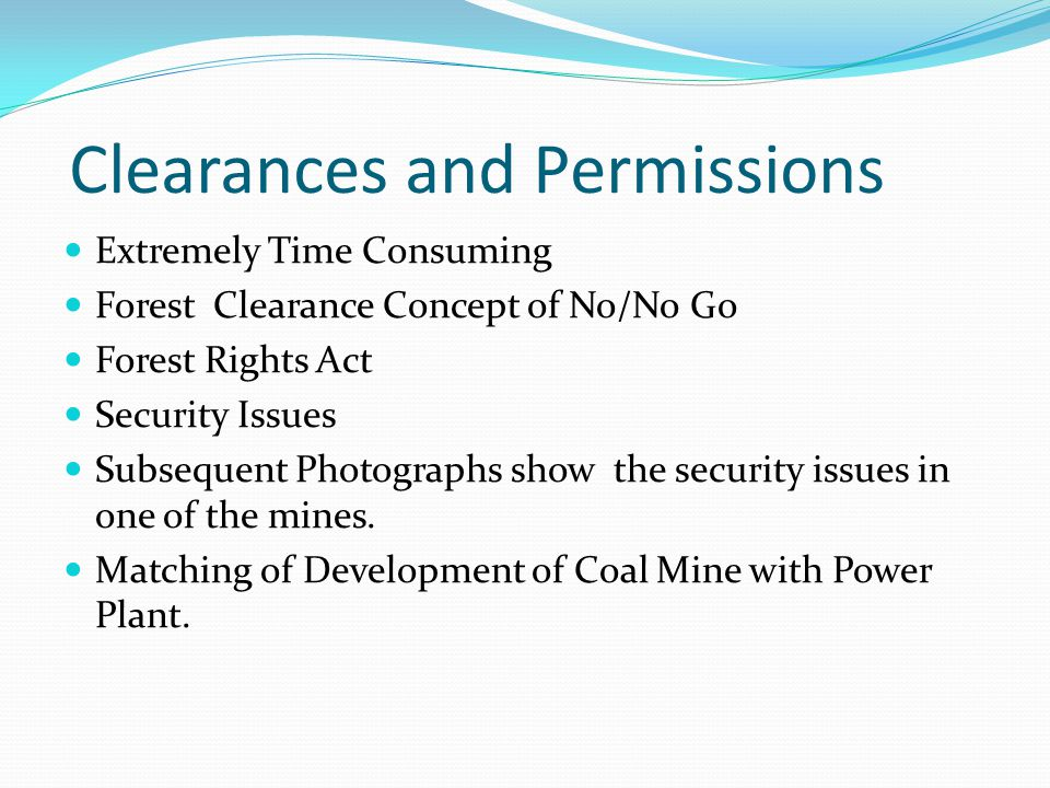 Clearances and Permissions