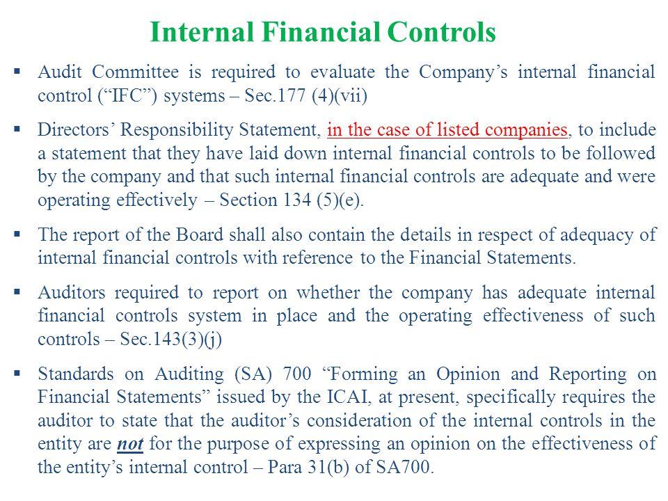 Internal Financial Controls