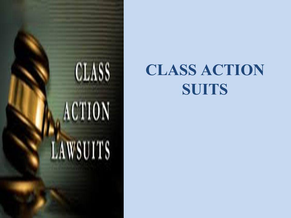 CLASS ACTION SUITS