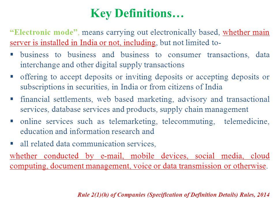 Key Definitions…