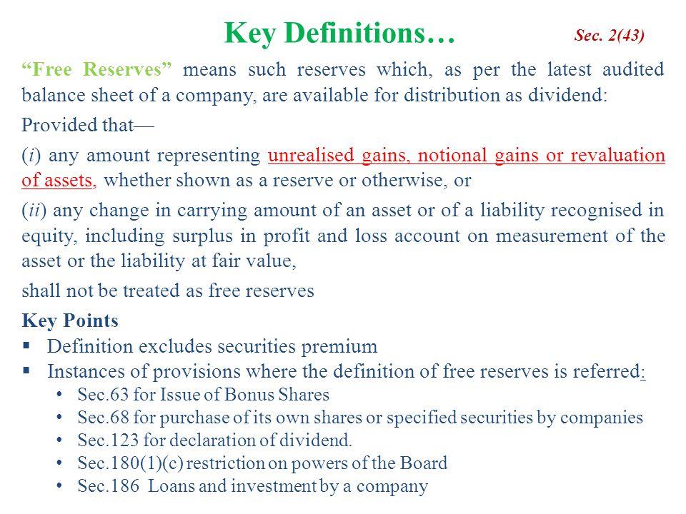 Key Definitions… Sec. 2(43)