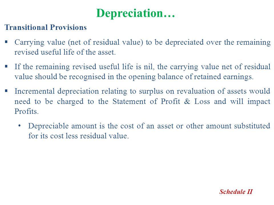 Depreciation… Transitional Provisions