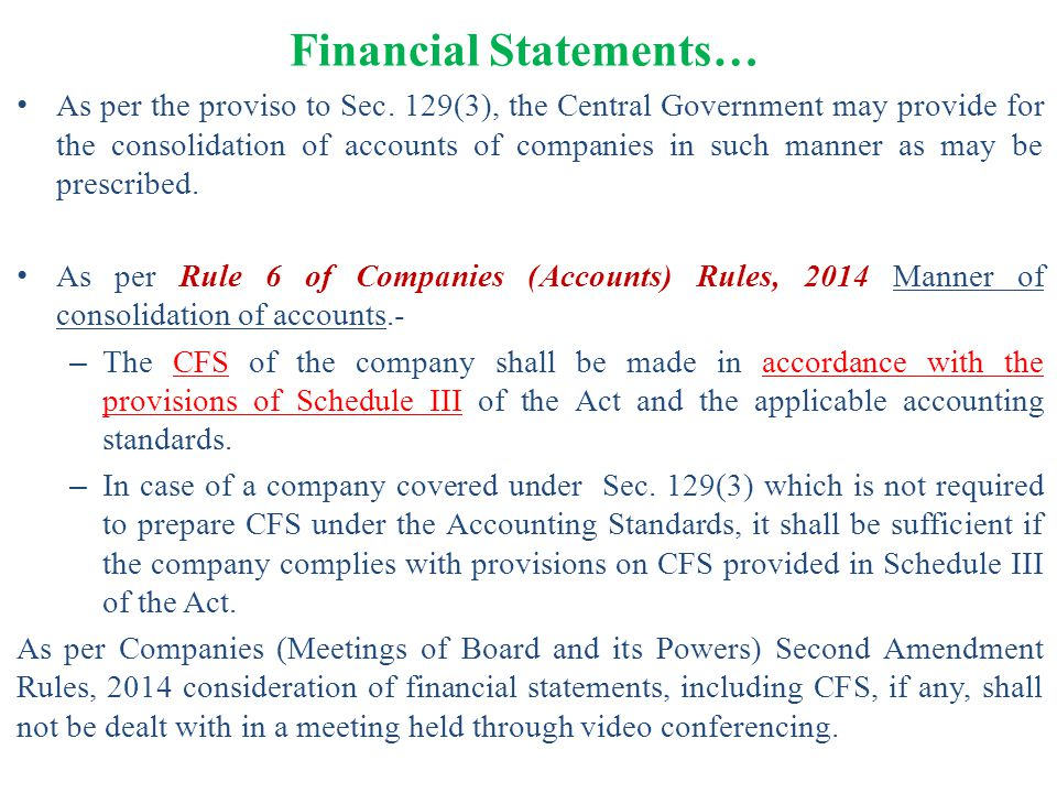 Financial Statements…