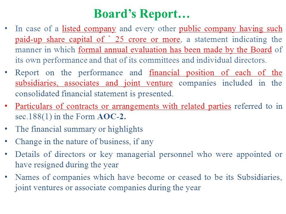 Board's Report…