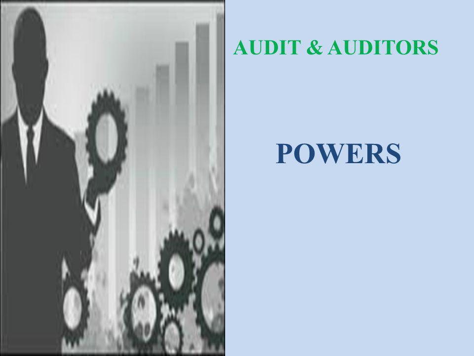 AUDIT & AUDITORS POWERS