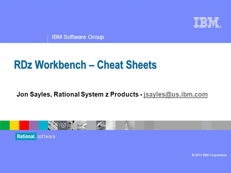 RDz Workbench – Cheat Sheets