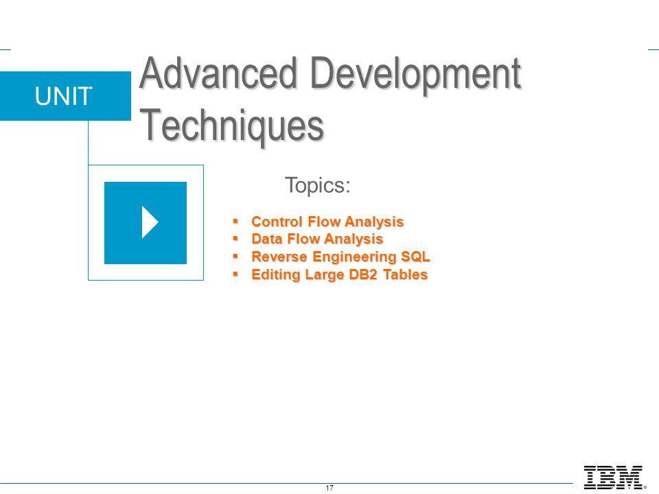 Advanced Development Techniques