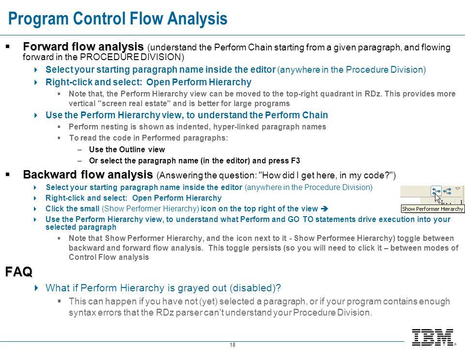 Program Control Flow Analysis