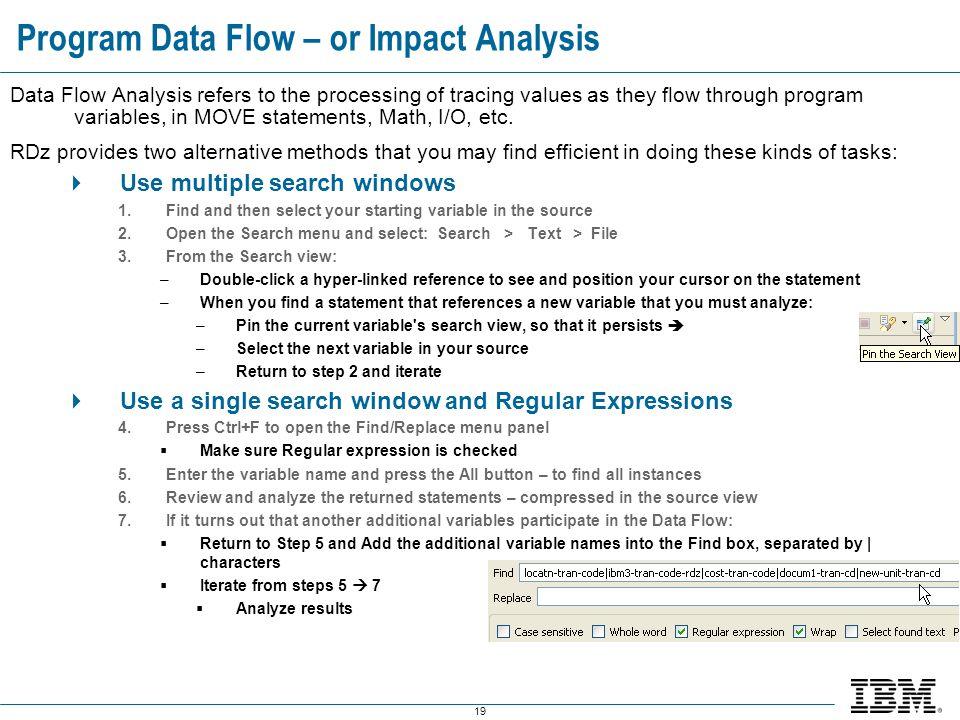 Program Data Flow – or Impact Analysis