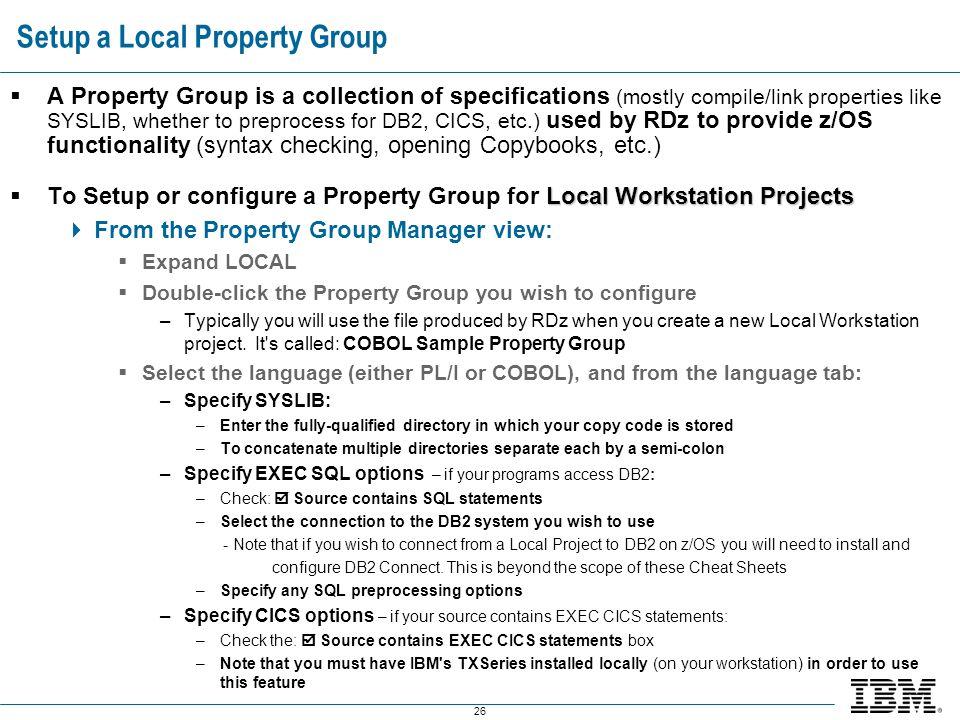 Setup a Local Property Group