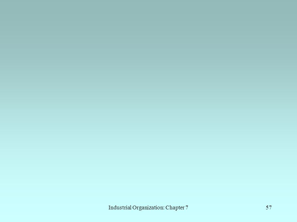Industrial Organization: Chapter 7