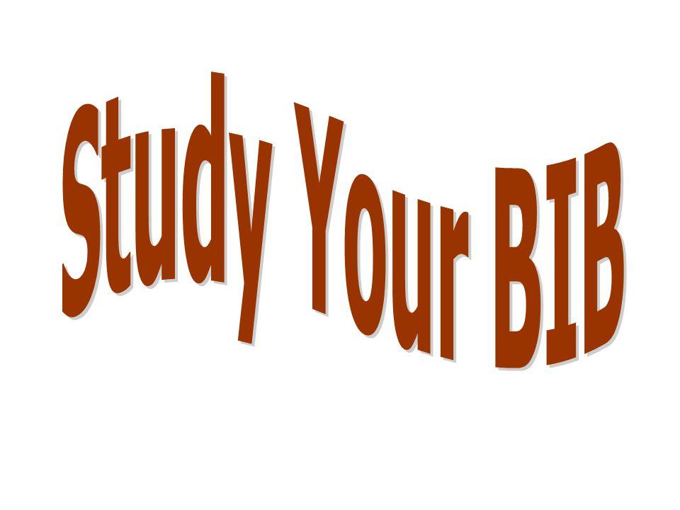 Study Your BIB