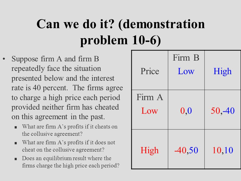 Can we do it (demonstration problem 10-6)